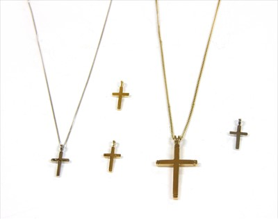 Lot 9-A 9ct gold cross and chain