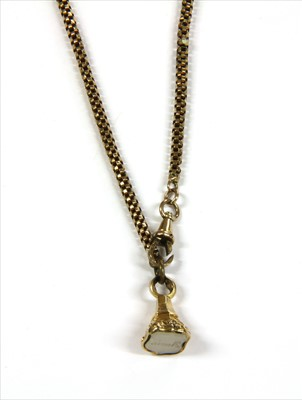 Lot 8-A length of gold fancy link chain