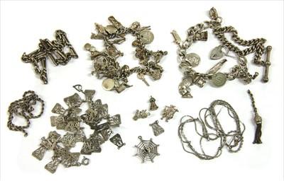 Lot 10-Two silver curb bracelets