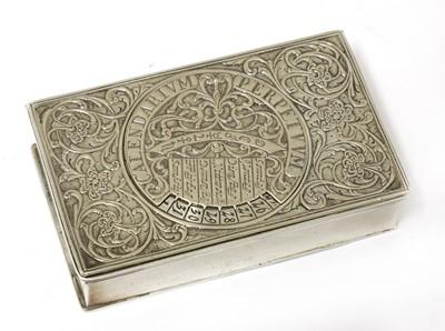 Lot 81 - A German silver perpetual calendar snuff box