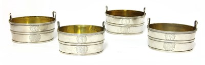 Lot 30 - A set of four twin-handled George III silver salts