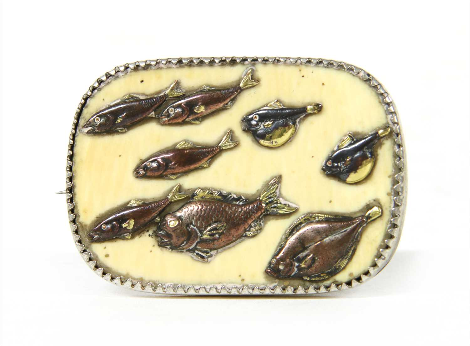 Lot 10-A silver brooch