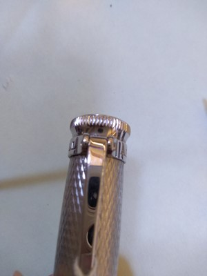 Lot 248 - A Dunhill 'Sentryman' palladium plated rollerball pen
