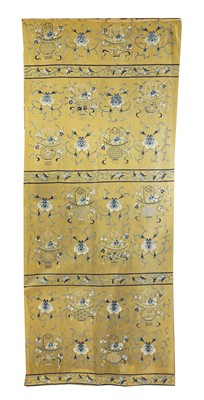 Lot 96 - A Chinese embroidered column wrap