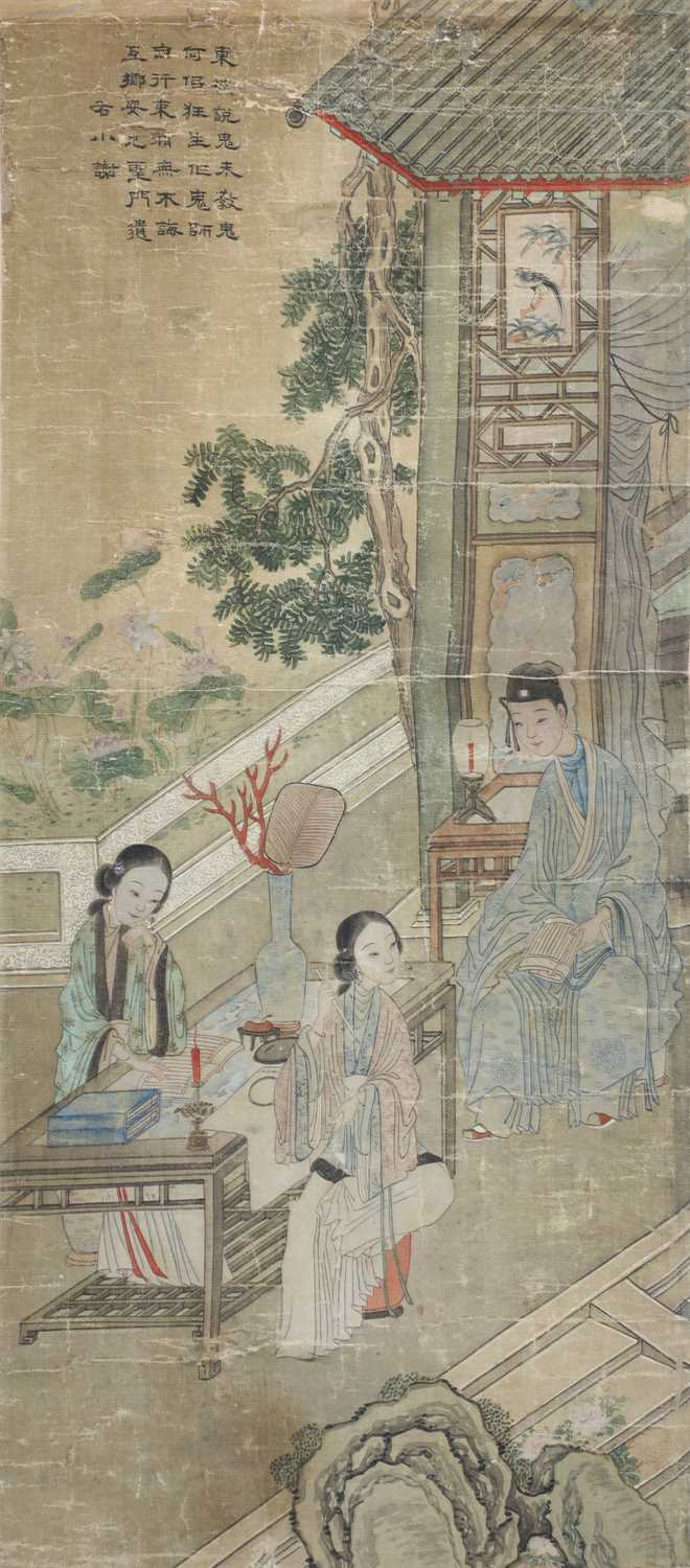 Lot 93 - A pair of Chinese gouache paintings