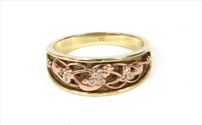 Lot 49-A 9ct gold Clogau 'Tree of Life' diamond ring