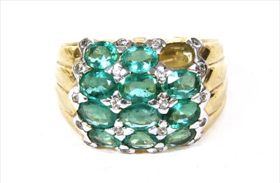 Lot 45-A 9ct gold emerald ring