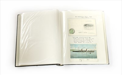 Lot 15-An album of shipping postcards
