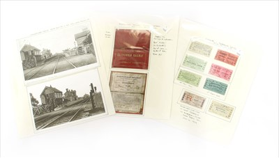 Lot 19-Various railway related items