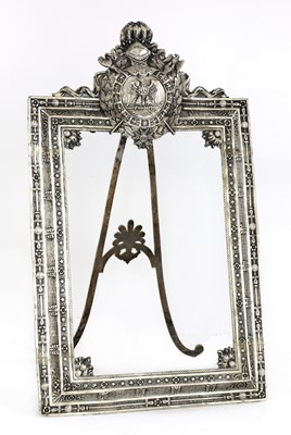 Lot 82 - A French First Empire white metal photograph frame