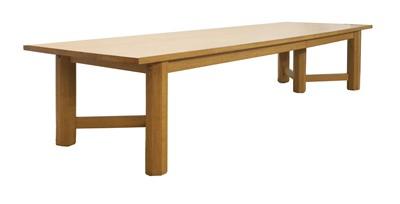 Lot 269 - A massive oak refectory table