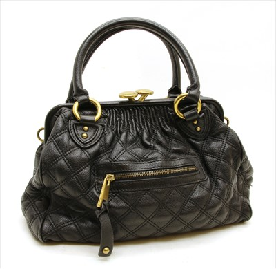 Lot 1012-Marc Jacobs black quilted leather bag