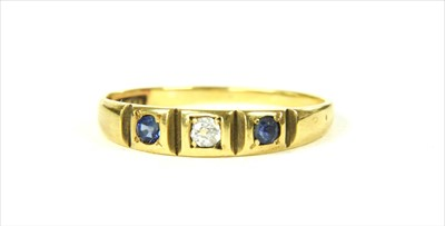Lot 16 - A gold sapphire and diamond ring