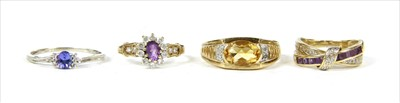 Lot 46-Four gold rings