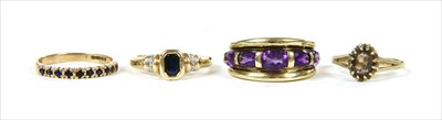 Lot 47-Four gold rings