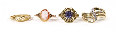 Lot 50-Four gold rings