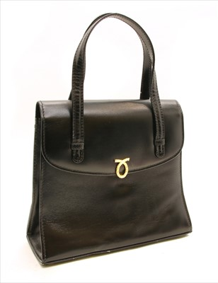 Lot 1013-A Launer black leather handbag
