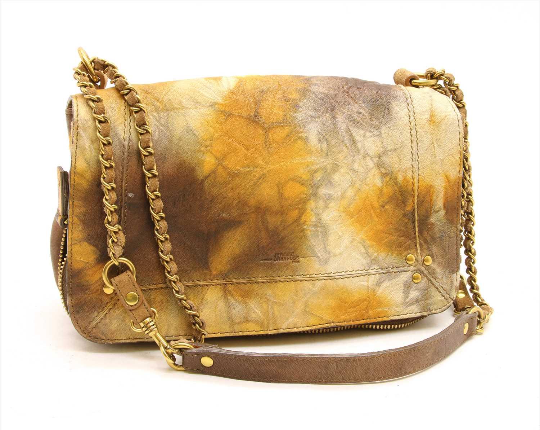Lot 1018-A Jerome Dreyfuss tan and multicolour leather Bobi shoulder bag