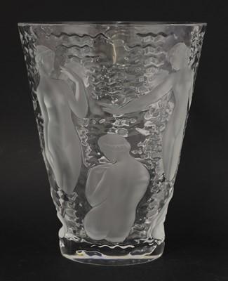 Lot 287 - A Lalique 'Ondines' glass vase