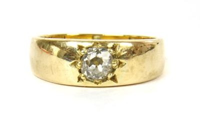 Lot 8-A gold single stone diamond ring
