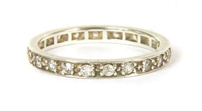 Lot 32-A white gold diamond full eternity ring