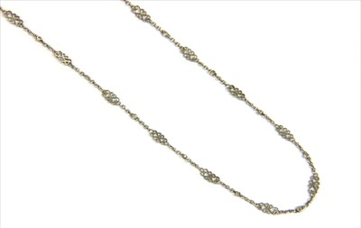 Lot 13-A platinum diamond chain