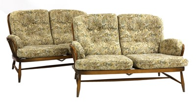 Lot 58-A pair of Ercol 'Jubilee' two-seater settees