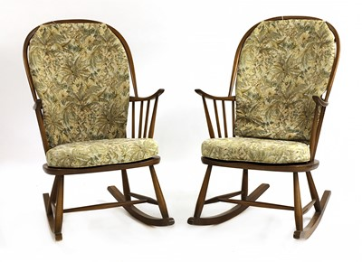 Lot 57-A pair of Ercol rocking chairs