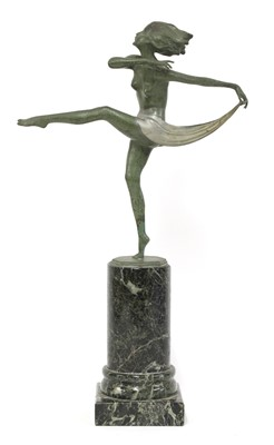 Lot 501 - A cold-painted bronze figure of a dancer