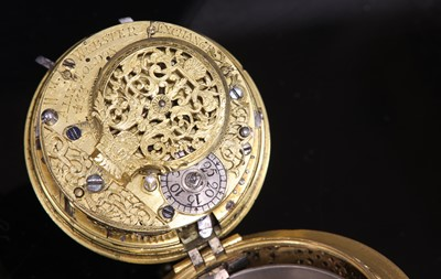 Lot 328-A 22ct gold fine William Webster quarter repeater verge watch, c.1715