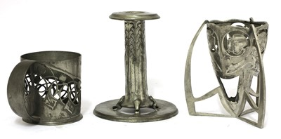 Lot 193 - A collection of Liberty Tudric pewter wares