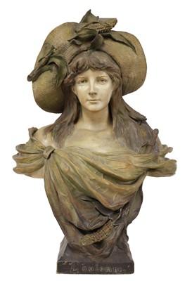 Lot 22 - A Goldscheider terracotta bust 'L'Automne'