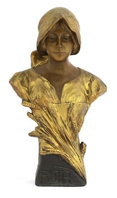 Lot 81 - A Goldscheider terracotta bust of Ruth