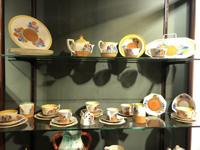 Lot 369 - A large quantity of Clarice Cliff 'Crocus' items
