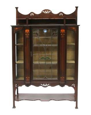 Lot 144 - A mahogany Art Nouveau glazed display cabinet