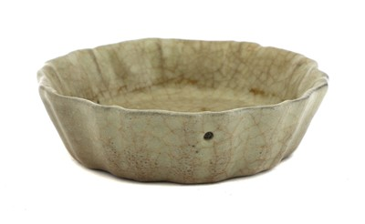 Lot 2-A Chinese ge ware brush washer