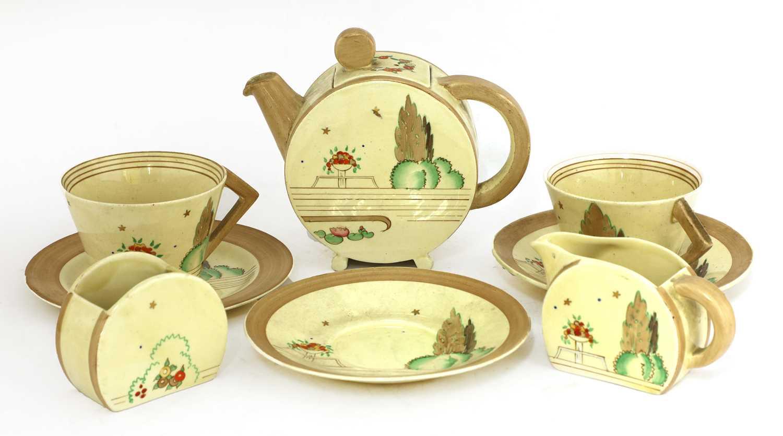 Lot 368 - A Clarice Cliff 'Napoli' Bonjour tea set