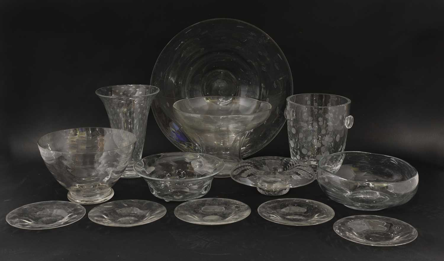 Lot 50-Plain glass - a selection of glassware
