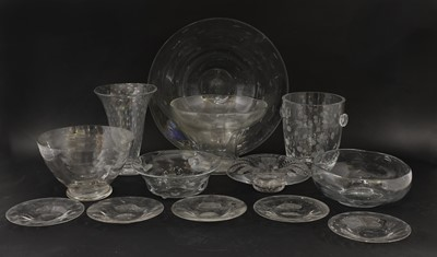 Lot 112 - Plain glass - a selection of glassware