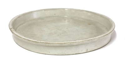 Lot 10-A Chinese blanc de Chine plate