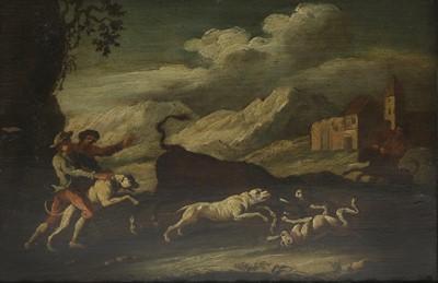 Lot 587 - Follower of Philipp Peter Roos, called Rosa da Tivoli (Italian, 1677-1706)