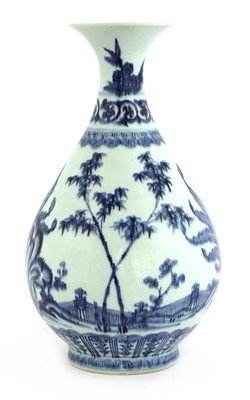 Lot 13-A Chinese blue and white yuhuchun vase