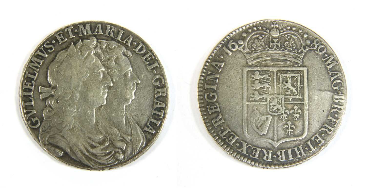 Lot 5-Coins, Great Britain, William & Mary (1689-1694)