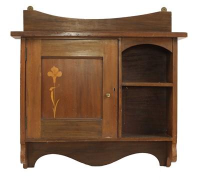 Lot 26 - A mahogany hanging wall cabinet