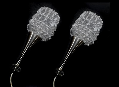Lot 48-A pair of Danish glass pendant lamps