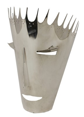 Lot 52-A silver-plated face mask