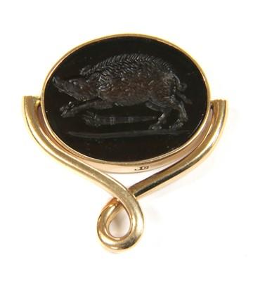 Lot 14-A Georgian gold swivel seal