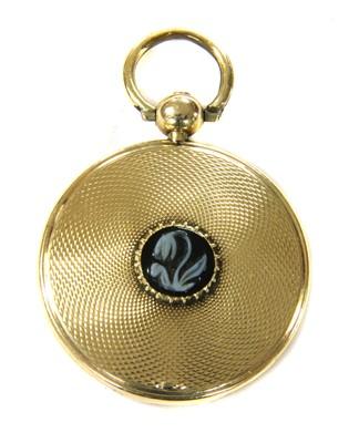 Lot 6-A Victorian gold sardonyx snowdrop memorial locket