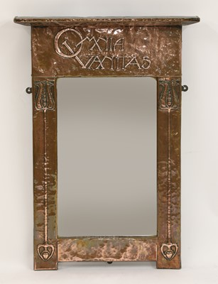 Lot 141 - An Arts and Crafts copper wall mirror