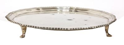 Lot 55 - A George VI silver salver